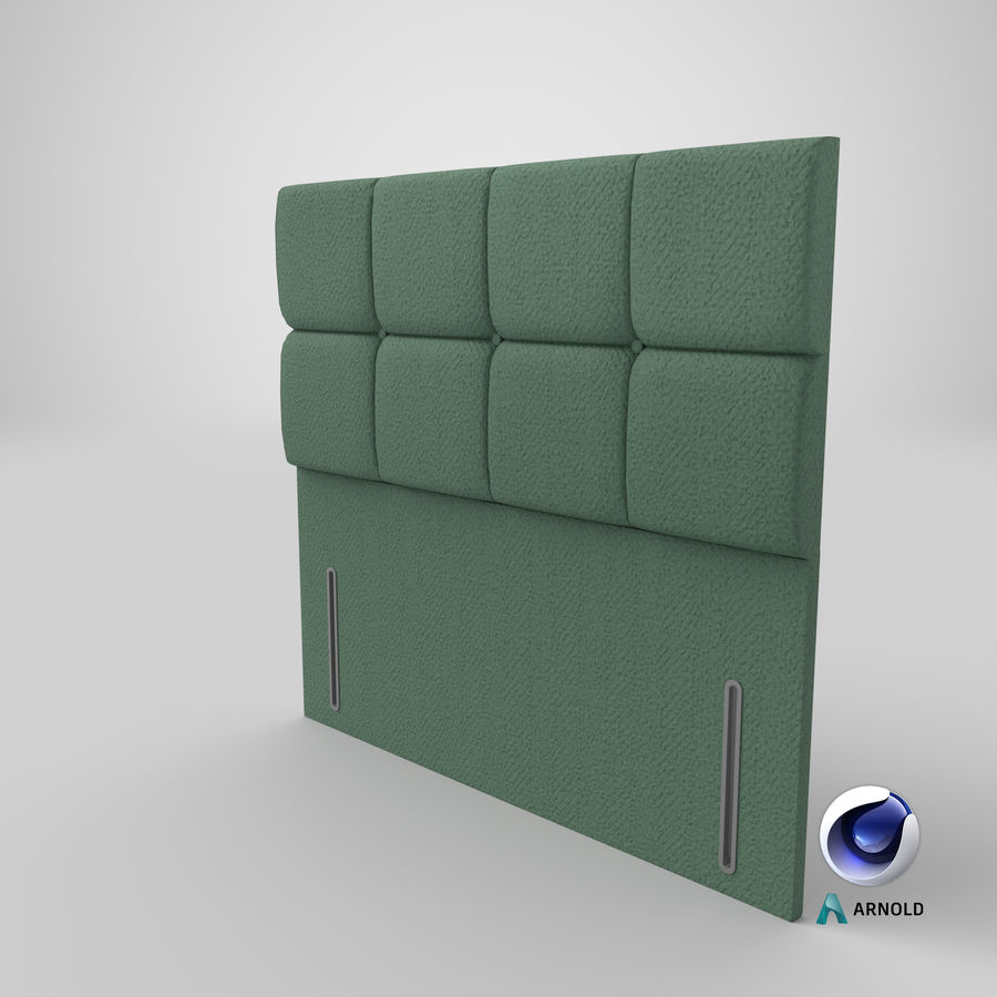 Headboard 03 Mint royalty-free 3d model - Preview no. 23