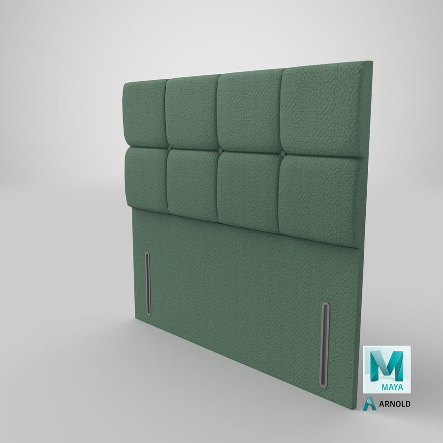 Headboard 03 Mint royalty-free 3d model - Preview no. 27