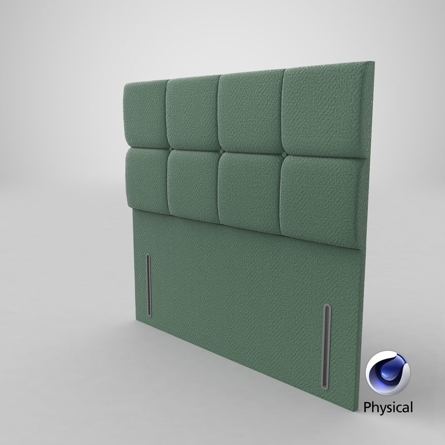 Headboard 03 Mint royalty-free 3d model - Preview no. 22