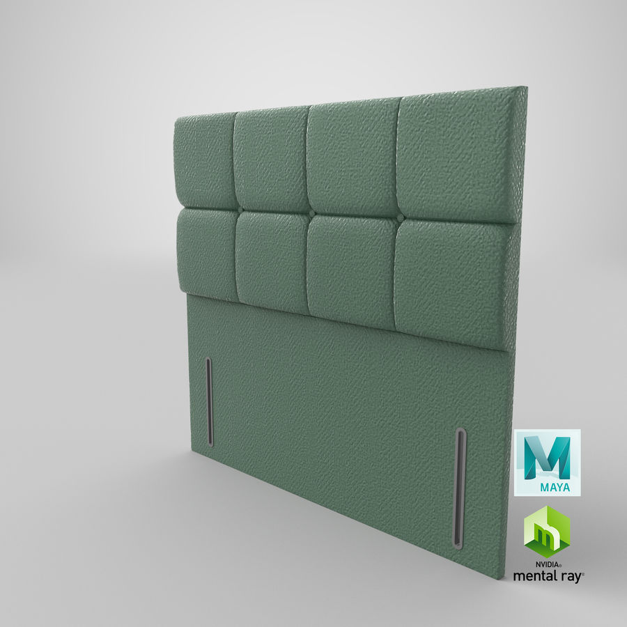 Headboard 03 Mint royalty-free 3d model - Preview no. 28