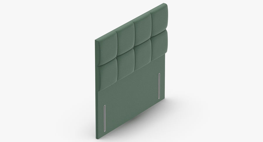 Headboard 03 Mint royalty-free 3d model - Preview no. 7