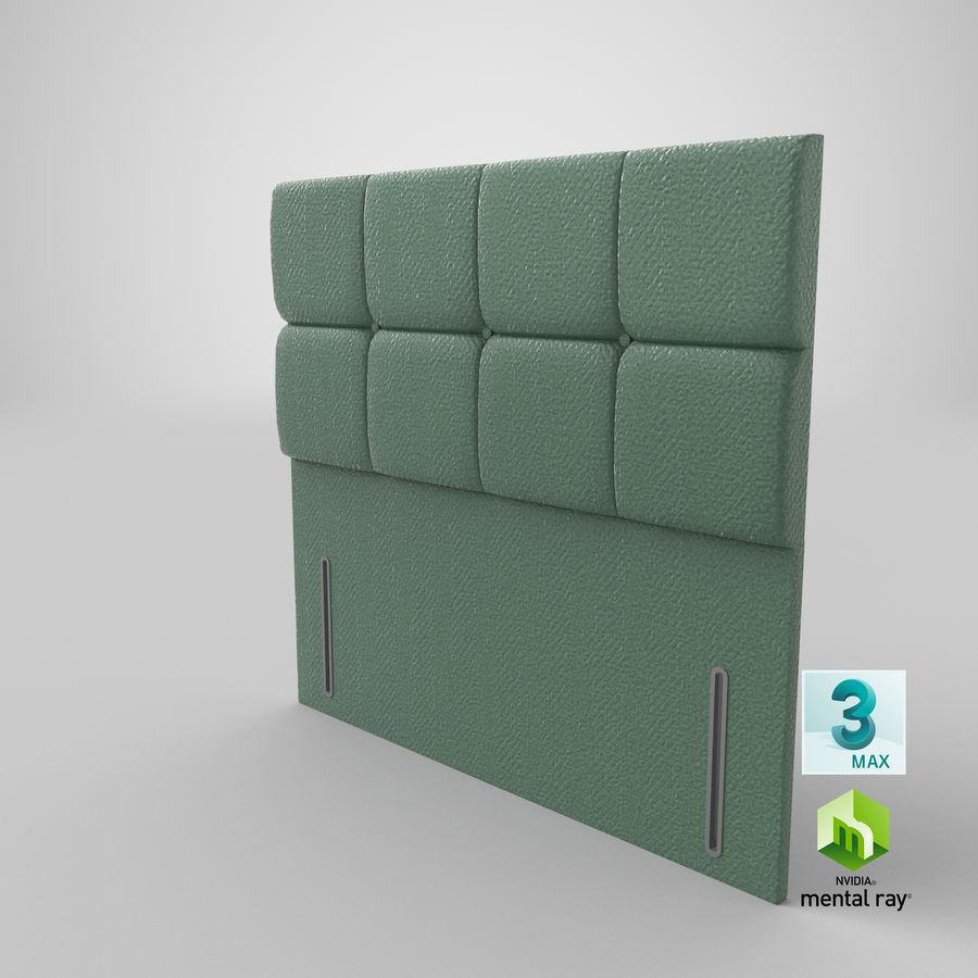Headboard 03 Mint royalty-free 3d model - Preview no. 25