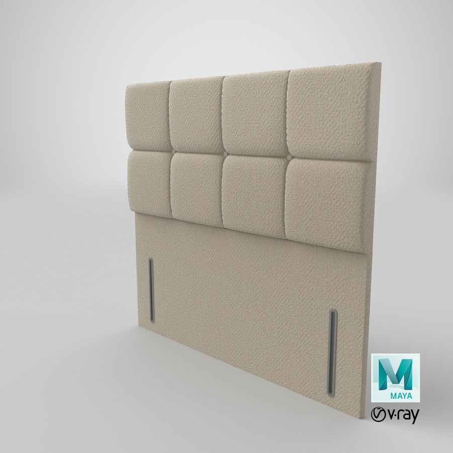 Headboard 03 Oatmeal royalty-free 3d model - Preview no. 29