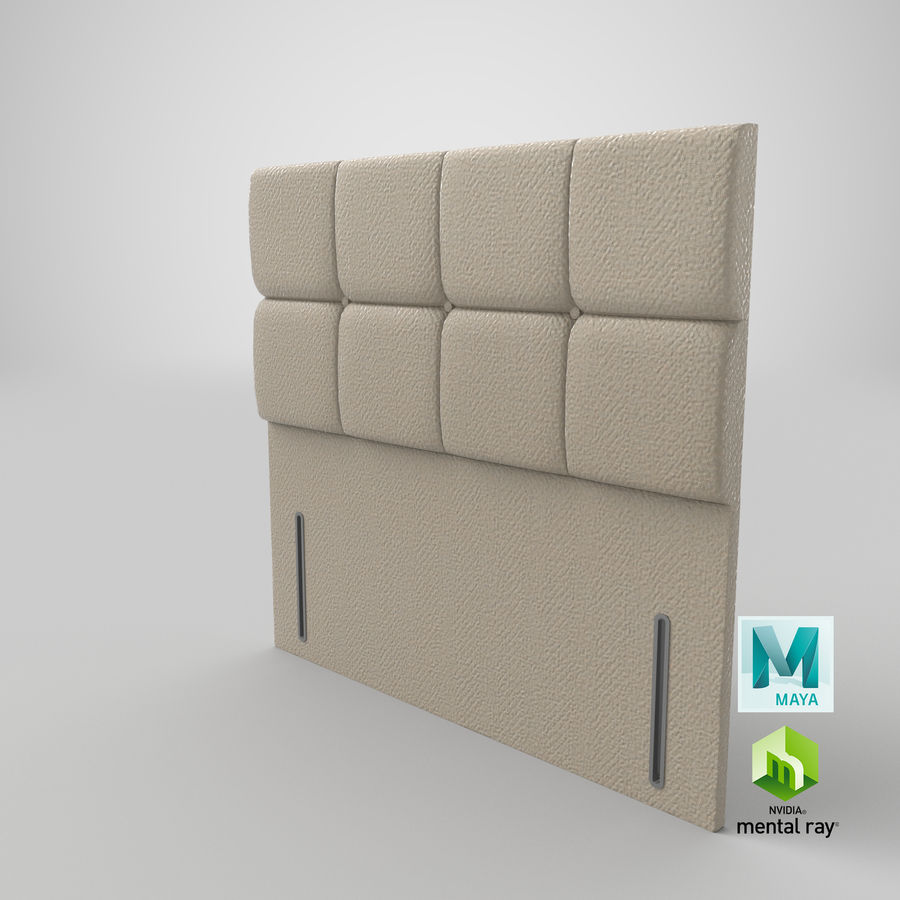 Headboard 03 Oatmeal royalty-free 3d model - Preview no. 28