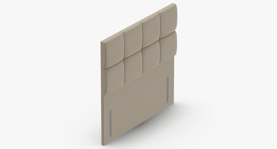 Headboard 03 Oatmeal royalty-free 3d model - Preview no. 7