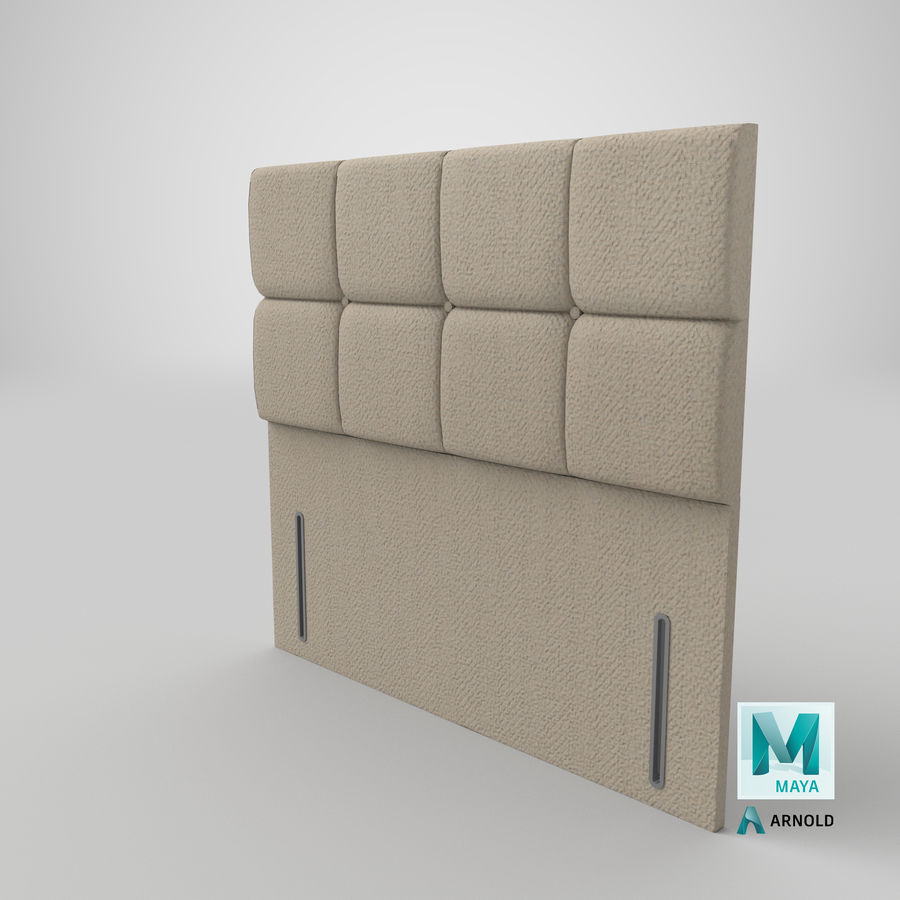 Headboard 03 Oatmeal royalty-free 3d model - Preview no. 27
