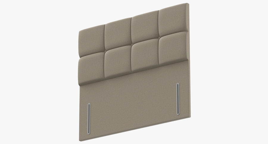 Headboard 03 Oatmeal royalty-free 3d model - Preview no. 9