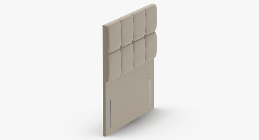 Headboard 03 Oatmeal royalty-free 3d model - Preview no. 4