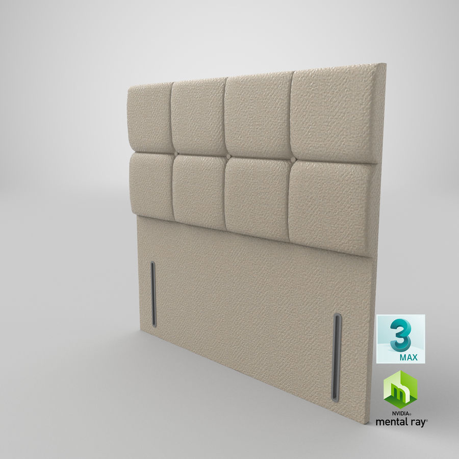 Headboard 03 Oatmeal royalty-free 3d model - Preview no. 25