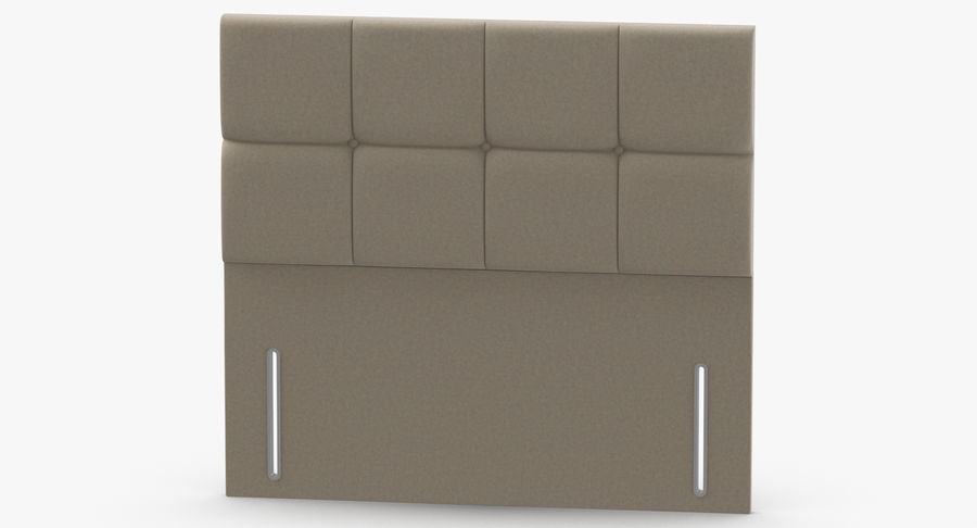 Headboard 03 Oatmeal royalty-free 3d model - Preview no. 5