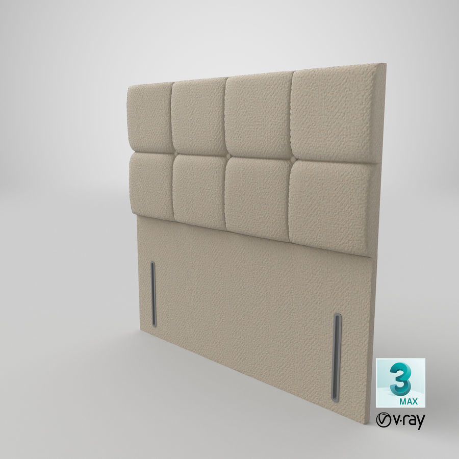 Headboard 03 Oatmeal royalty-free 3d model - Preview no. 26
