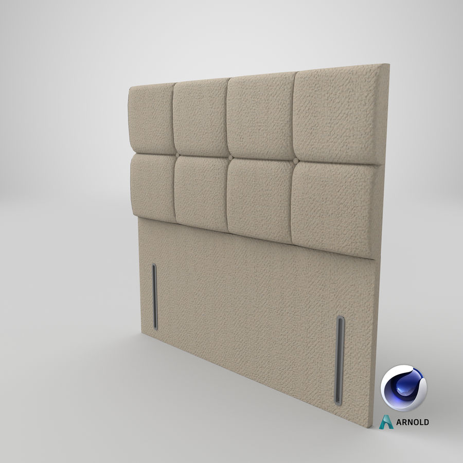 Headboard 03 Oatmeal royalty-free 3d model - Preview no. 23