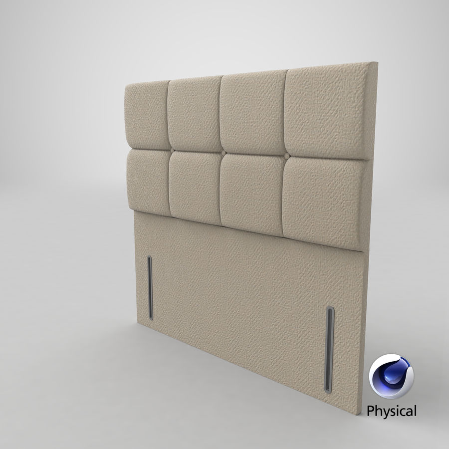 Headboard 03 Oatmeal royalty-free 3d model - Preview no. 22
