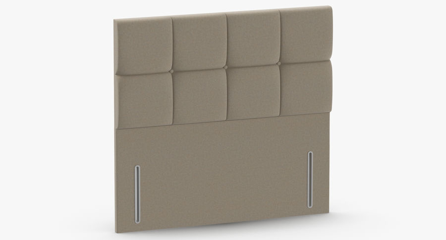 Headboard 03 Oatmeal royalty-free 3d model - Preview no. 3