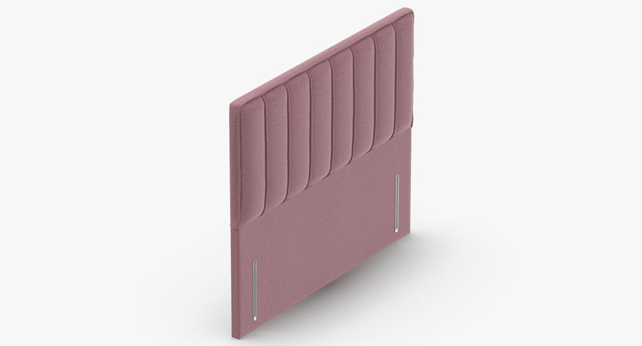 Headboard 04 Blush royalty-free 3d model - Preview no. 7