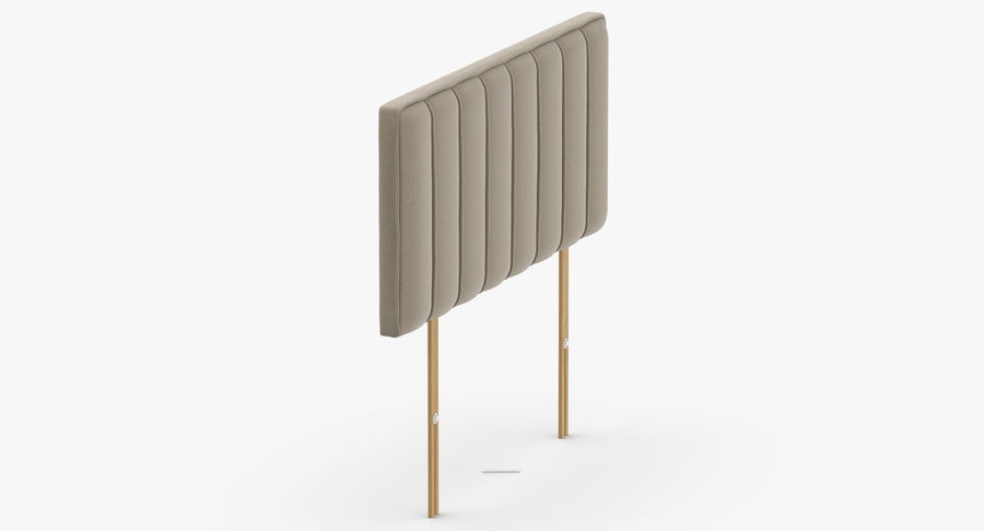 Headboard 10 Oatmeal royalty-free 3d model - Preview no. 4