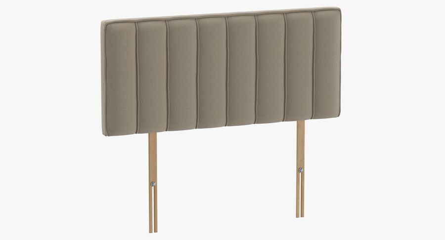 Headboard 10 Oatmeal royalty-free 3d model - Preview no. 2