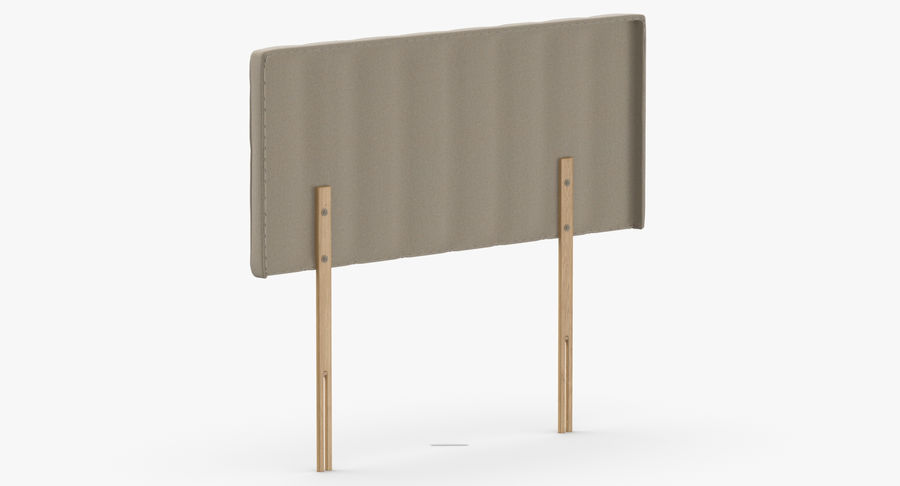 Headboard 10 Oatmeal royalty-free 3d model - Preview no. 6