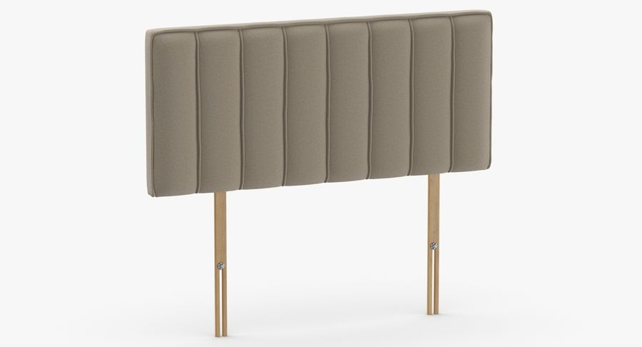 Headboard 10 Oatmeal royalty-free 3d model - Preview no. 3