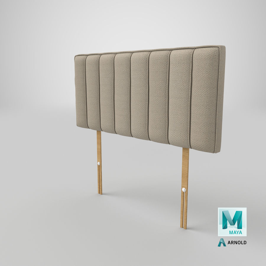 Headboard 10 Oatmeal royalty-free 3d model - Preview no. 26