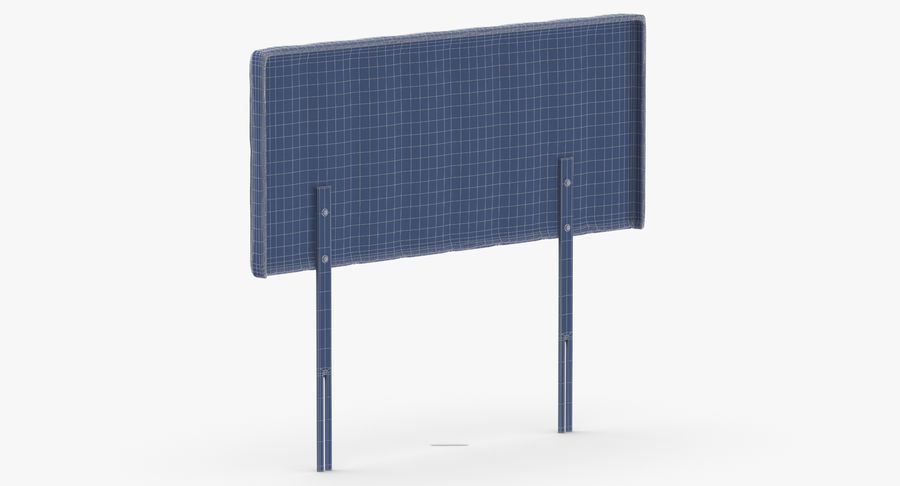 Headboard 10 Oatmeal royalty-free 3d model - Preview no. 14
