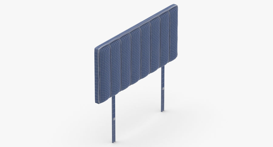 Headboard 10 Oatmeal royalty-free 3d model - Preview no. 16