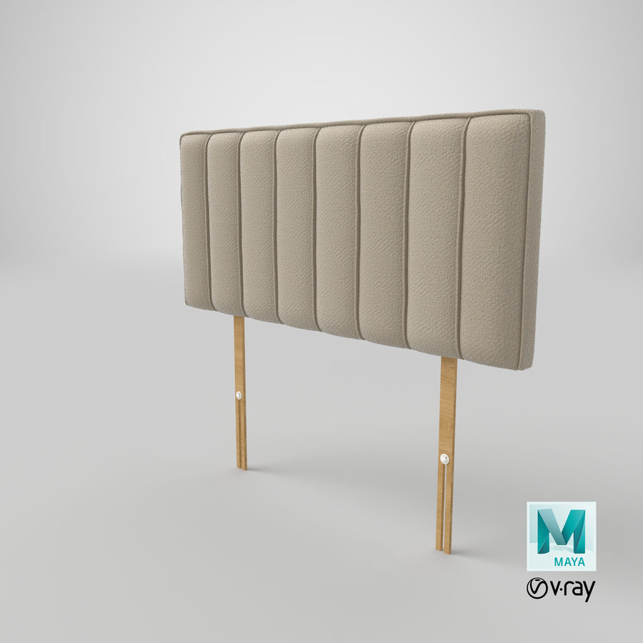 Headboard 10 Oatmeal royalty-free 3d model - Preview no. 28