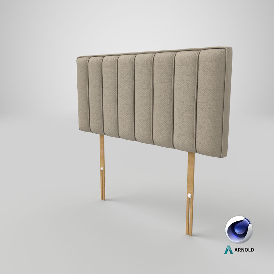 Headboard 10 Oatmeal royalty-free 3d model - Preview no. 22