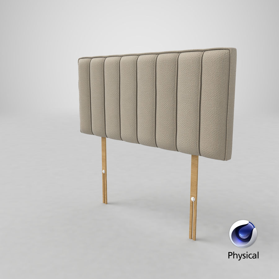 Headboard 10 Oatmeal royalty-free 3d model - Preview no. 21