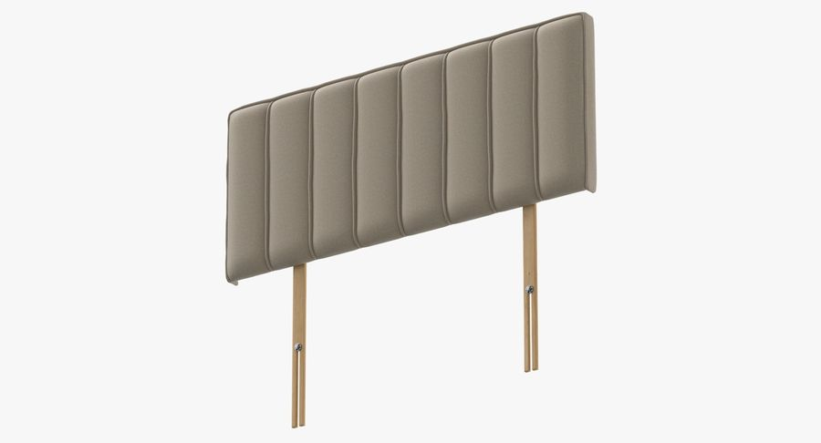 Headboard 10 Oatmeal royalty-free 3d model - Preview no. 9