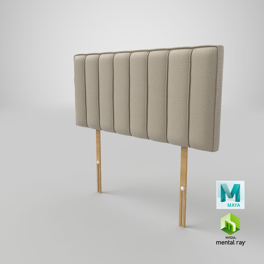 Headboard 10 Oatmeal royalty-free 3d model - Preview no. 27