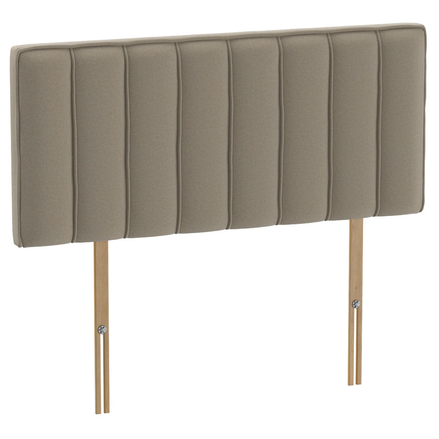 Headboard 10 Oatmeal royalty-free 3d model - Preview no. 1