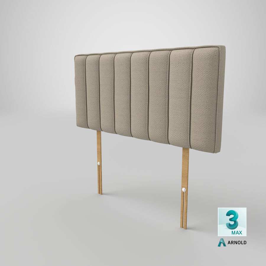 Headboard 10 Oatmeal royalty-free 3d model - Preview no. 23
