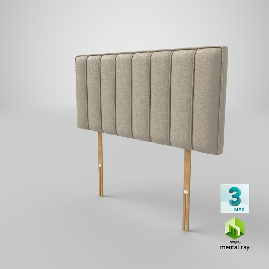 Headboard 10 Oatmeal royalty-free 3d model - Preview no. 24