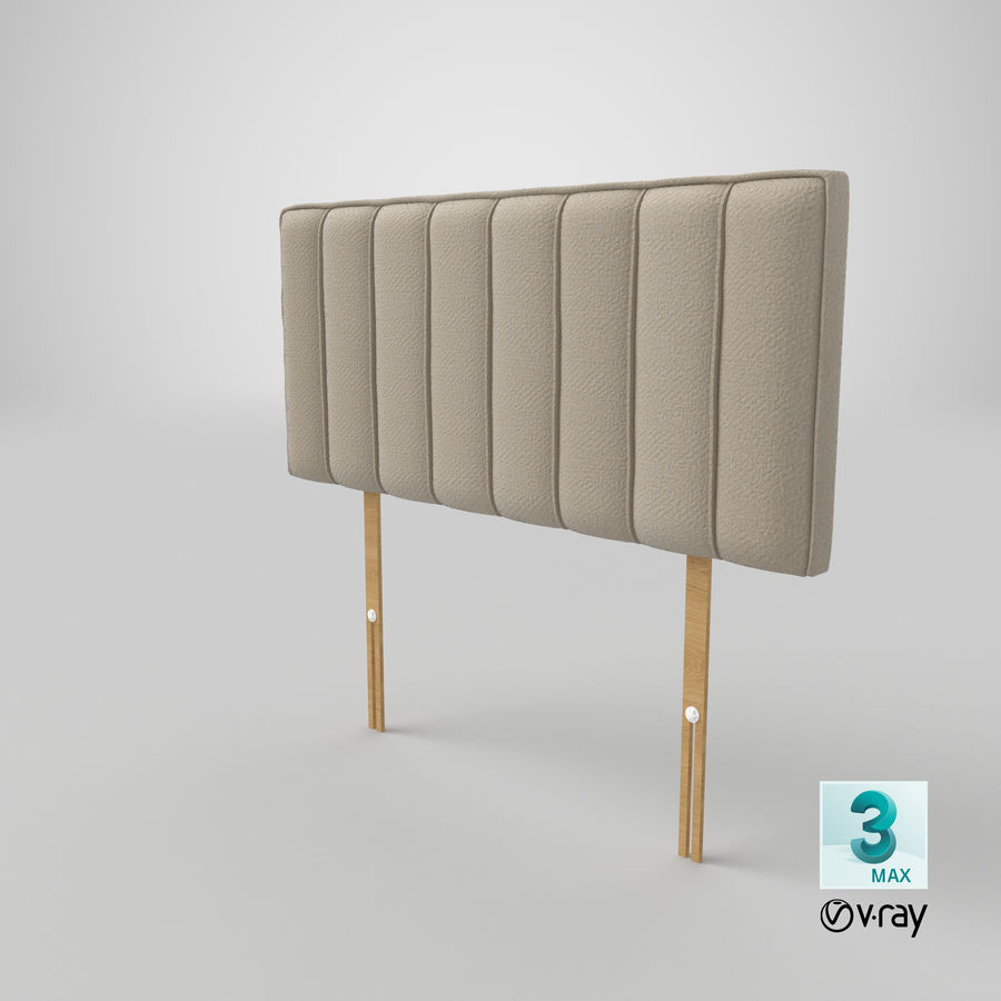 Headboard 10 Oatmeal royalty-free 3d model - Preview no. 25