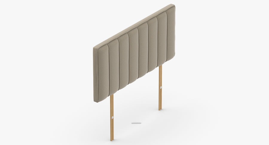 Headboard 10 Oatmeal royalty-free 3d model - Preview no. 7