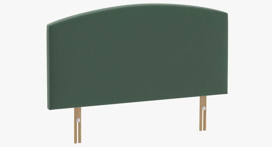 Headboard 11 Mint royalty-free 3d model - Preview no. 2