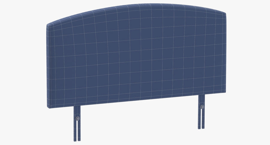 Headboard 11 Mint royalty-free 3d model - Preview no. 10