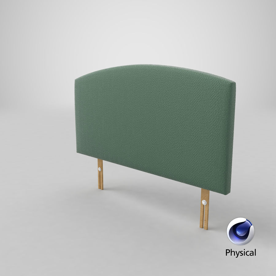 Headboard 11 Mint royalty-free 3d model - Preview no. 22
