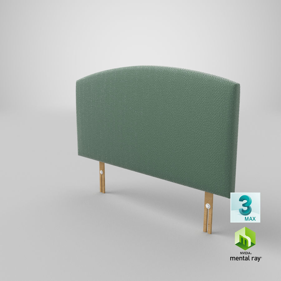 Headboard 11 Mint royalty-free 3d model - Preview no. 25