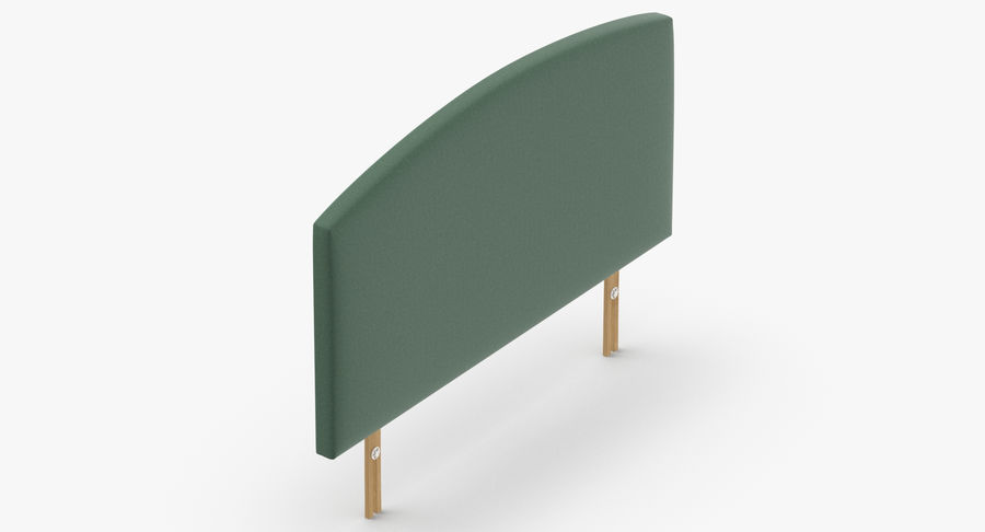 Headboard 11 Mint royalty-free 3d model - Preview no. 7