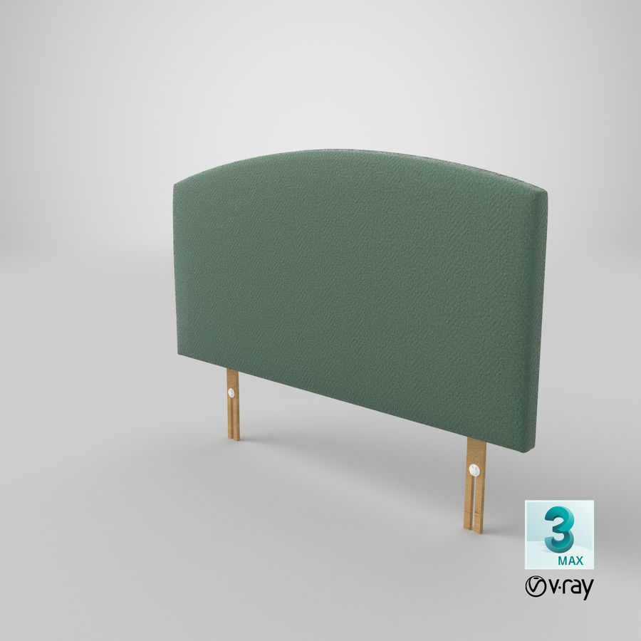 Headboard 11 Mint royalty-free 3d model - Preview no. 26