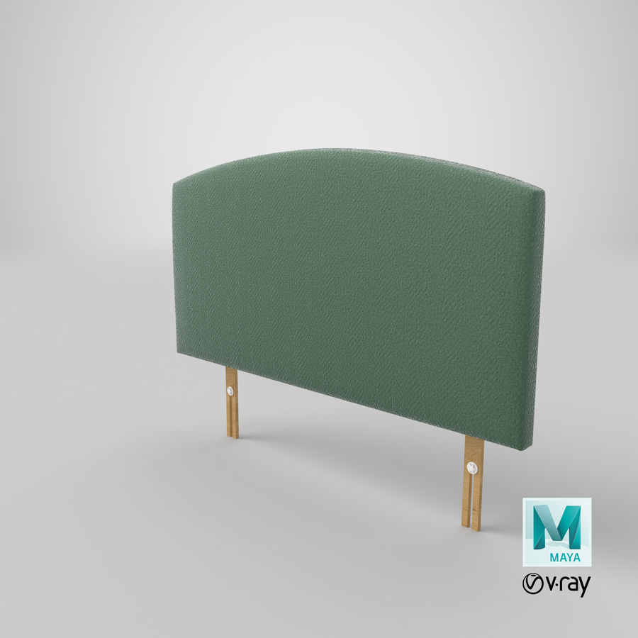 Headboard 11 Mint royalty-free 3d model - Preview no. 29