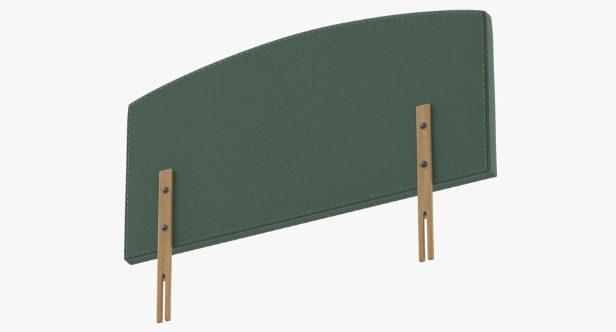 Headboard 11 Mint royalty-free 3d model - Preview no. 8