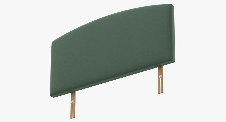 Headboard 11 Mint royalty-free 3d model - Preview no. 9