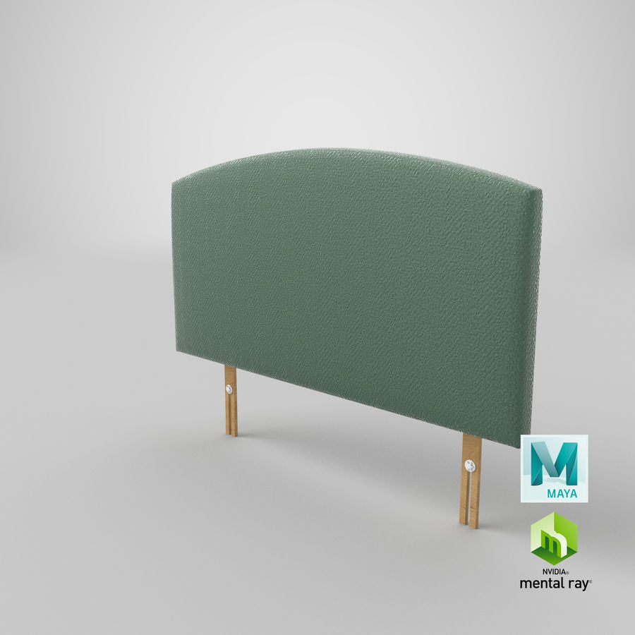 Headboard 11 Mint royalty-free 3d model - Preview no. 28