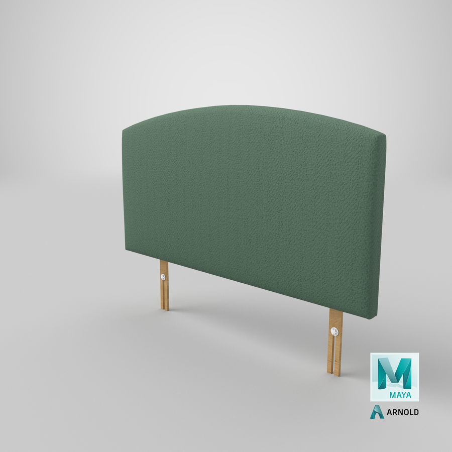 Headboard 11 Mint royalty-free 3d model - Preview no. 27