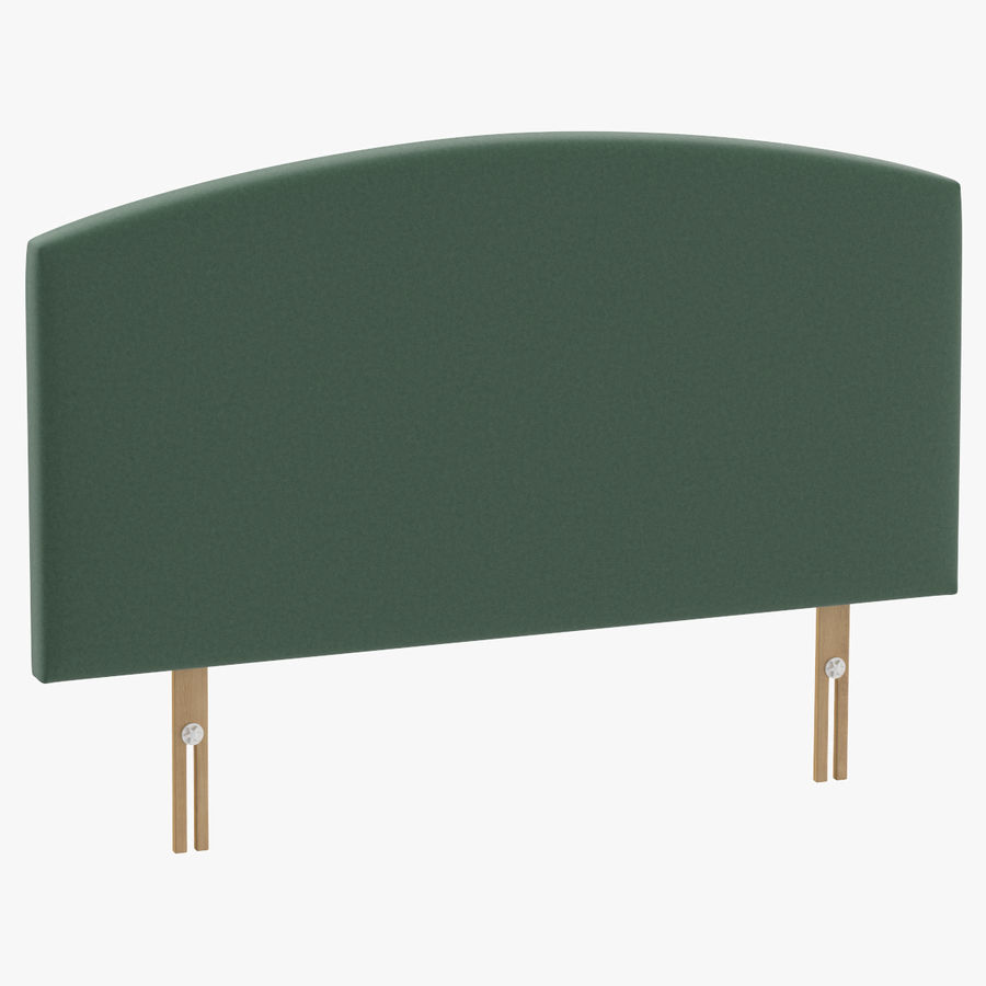 Headboard 11 Mint royalty-free 3d model - Preview no. 1
