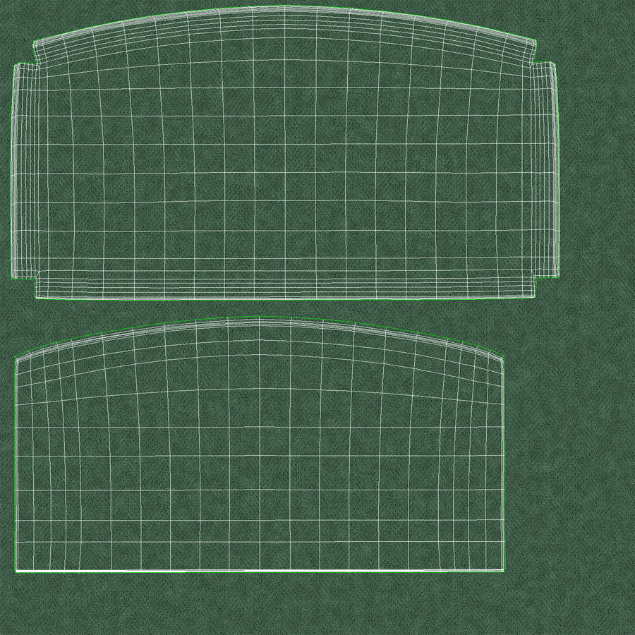 Headboard 11 Mint royalty-free 3d model - Preview no. 21