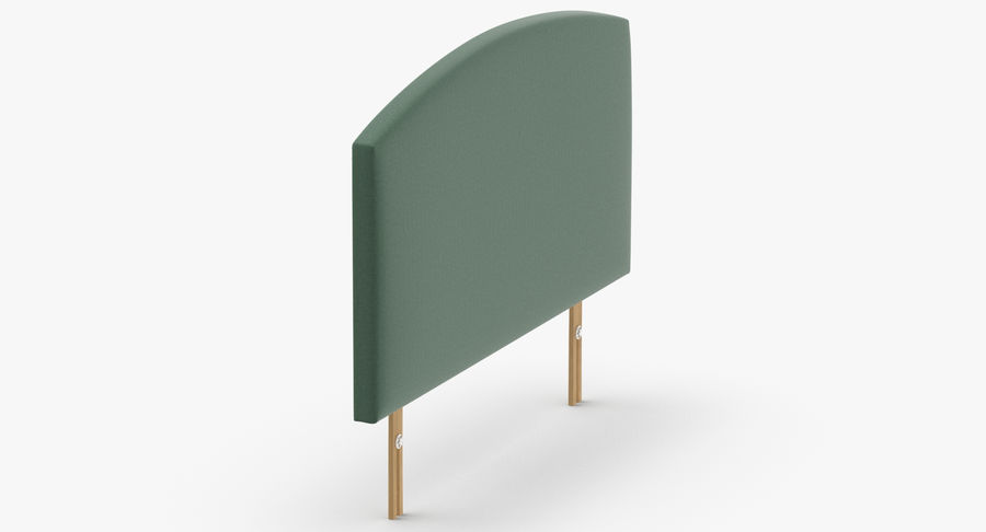 Headboard 11 Mint royalty-free 3d model - Preview no. 4